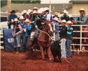 Gray breakaway roping on Booger at the 2016 ENMU College Daze Rodeo.