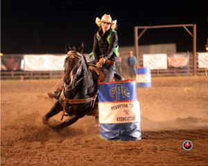 Competing in the short-go at the 2015 Frank Phillips College Rodeo.